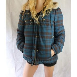 VINTAGE Juicy Couture Plaid Winter Puffer Jacket !
